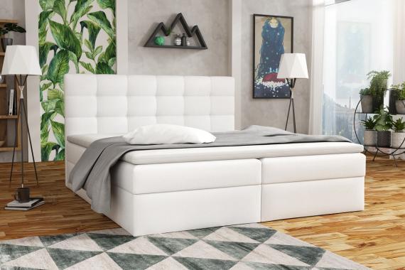 APIRO kontinentální postel boxspring 200x200 s úložným prostorem