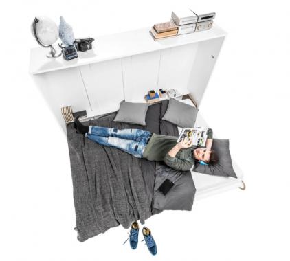 CONCEPT PRO sklápěcí postel 120x200 s pružinovou matrací | VÝPRODEJ