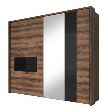 KONGO moderná šatníková skriňa 250 s posuvnými dverami
