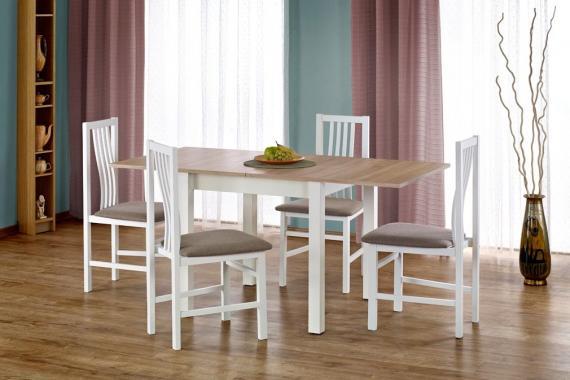 KAUNAS rozkladací jedálenský stôl v dekore dub sonoma/biela