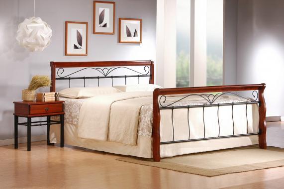 VERONICA kovová postel 160x200 s roštem
