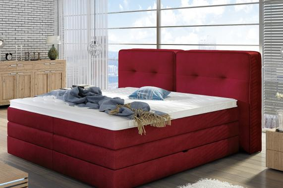THEA boxspring posteľ 160x200 s úložným priestorom