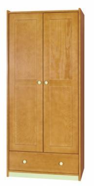 SK2 detská šatníková skriňa z masívneho dreva | viac farieb