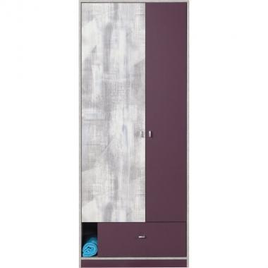 CHIP CH3 fialová šatníková skriňa do detskej izby