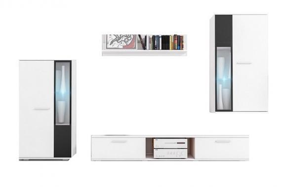 CAROL obývacia stena s LED osvetlením | VÝPREDAJ