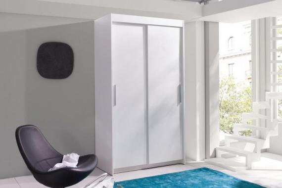 EVITA II malá šatníková skriňa s posuvnými dverami | 2 dekory