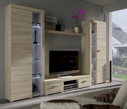 RUMBA XL III obývacia stena, dub sonoma