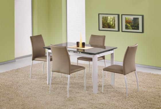 ALSTON rozkladací sklenený jedálenský stôl, béžový