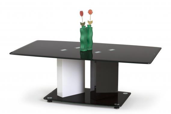 DEBRA černobílý konferenční stolek | VÝPRODEJ