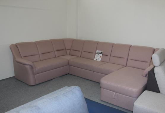 LISABON U ružová sedacia súprava v tvare U   VÝPREDAJ