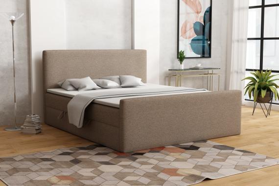 ZITA kontinentálna posteľ boxspring 200x200 s úložným priestorom