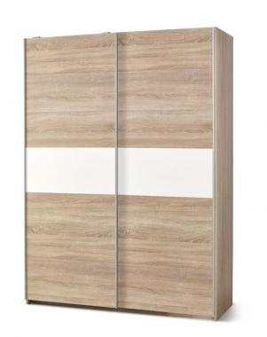 RIVER S-1 šatní skříň s posuvnými dveřmi v dekoru dub sonoma