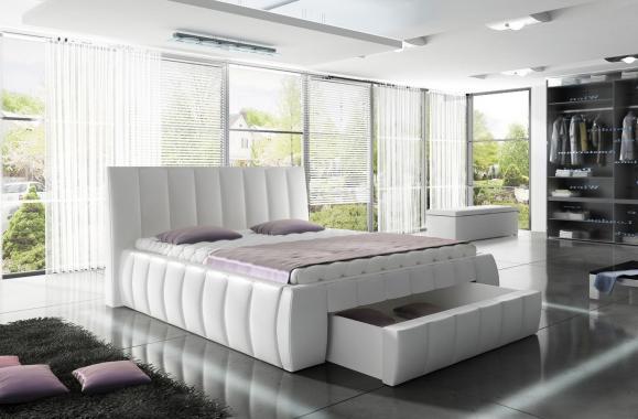 SIENA čalúnená manželská posteľ 160x200 s úložným priestorom