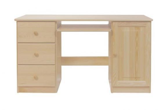 NR4 písací stôl z masívneho dreva