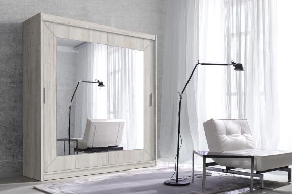 ALDO zrcadlová šatní skříň s posuvnými dveřmi | 6 dekorů