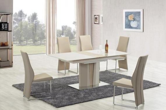 CAMERON rozkladací jedálenský stôl na jednej nohe