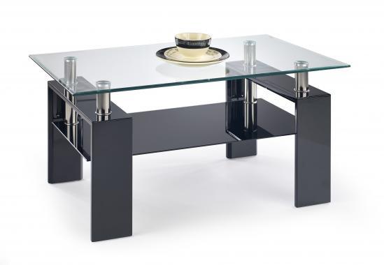 DIANA H obdĺžnikový konferenčný stolík so sklenenou doskou