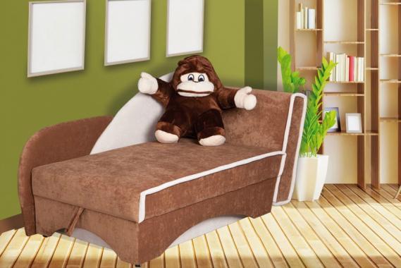 AFFE Kindersofa mit Schlaffunktion und Stauraum, Plüschtier, Bonellfederkern