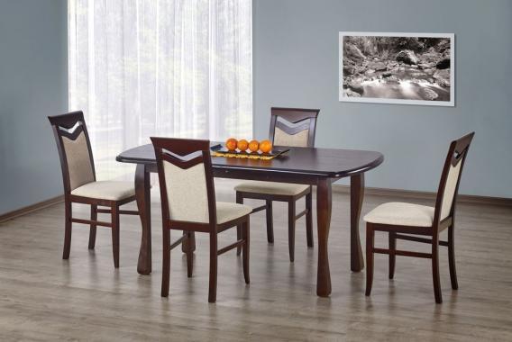 HENRYK rozkladací jedálenský stôl v drevenom dekore
