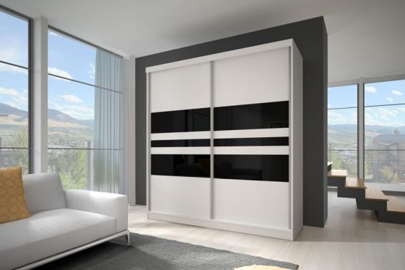 MULTI 1 moderná šatníková skriňa s posuvnými dverami | 3 rozmery
