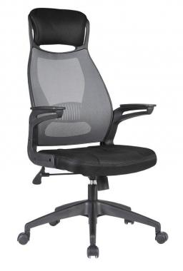 SOLARIS kancelárska stolička, čierno-sivá