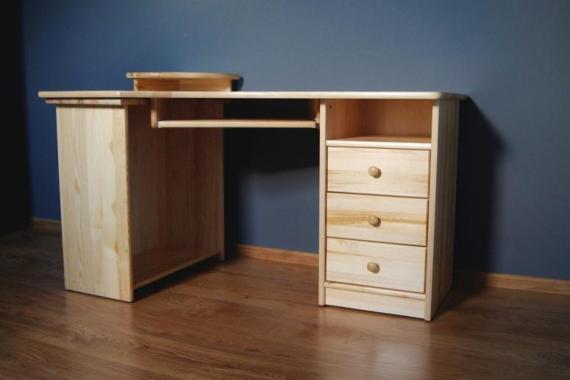 NR8 písací stôl z masívneho dreva
