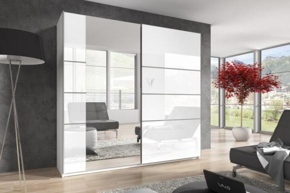 AXEL 4 veľká šatníková skriňa so zrkadlom a posuvnými dverami | 3 rozmery