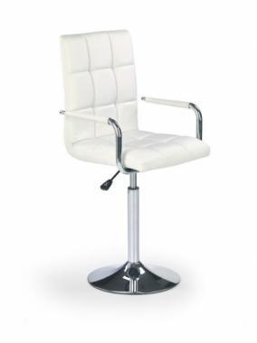 GONZO kožená barová stolička na jednej nohe