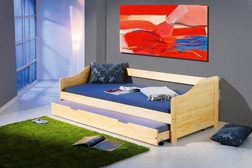 KARIN masívna detská posteľ s výsuvnou prístelkou