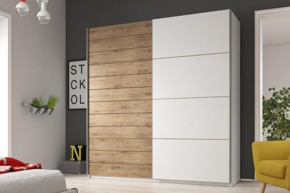 MEDIA 1 velká šatní skříň s posuvnými dveřmi | víc rozměrů