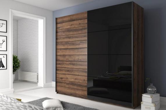 MEDIA 2 velká šatní skříň s posuvnými dveřmi | víc rozměrů