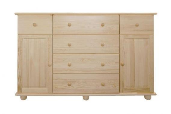 NR54 komoda z masivního dřeva | 6 dekorů