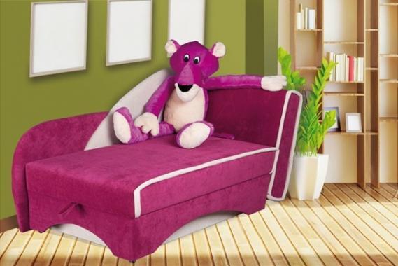 PANTHER Kindersofa mit Schlaffunktion, Stauraum und Plüschtier