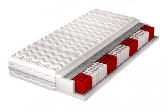 TEKSAS 7 zónová pěnová matrace s multipocket pružinami | 5 rozměrů