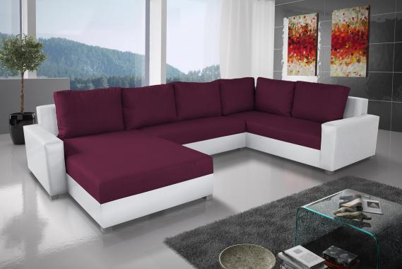 TONY moderná rozkladacia sedačka v tvare U s úložným priestorom