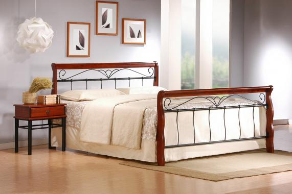 VERONICA kovová postel 180x200 s roštem