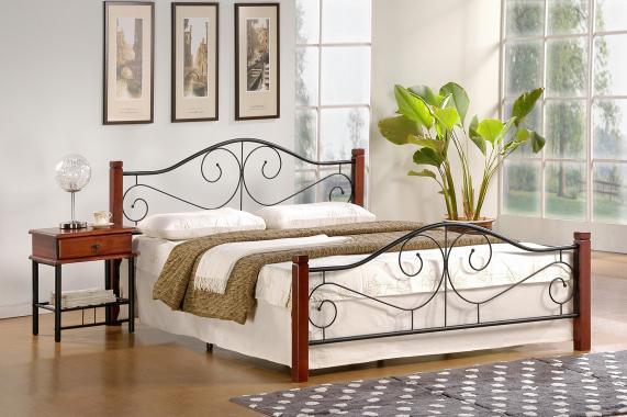 VIOLETTA kovová manželská postel 160x200 s roštem