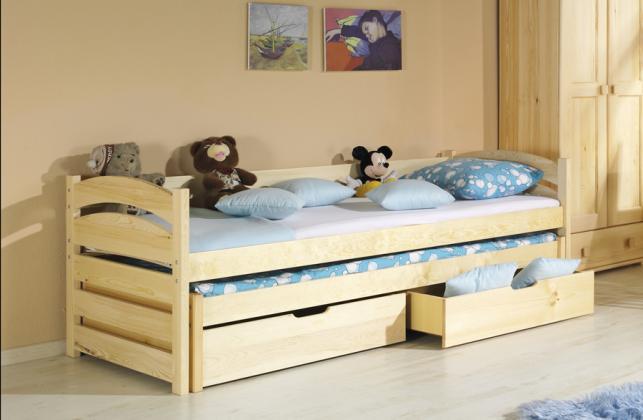 DLR, TOLEK detská posteľ z masívu 180x90 cm