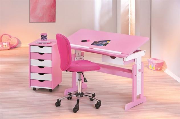 DOLLY rastúci detský písací stôl, ružový