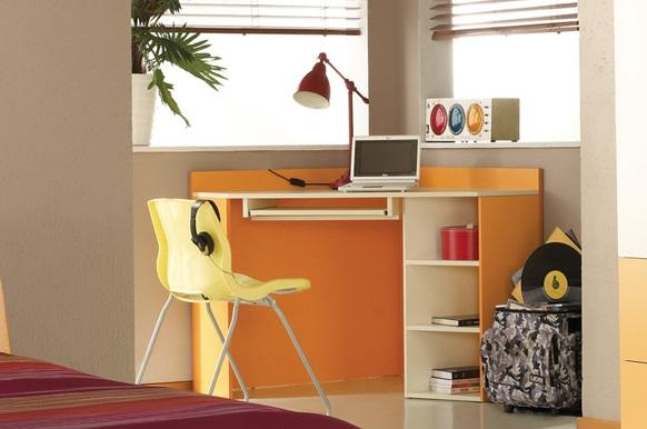 MBR, NEXT NE17 rohový dětský psací stůl