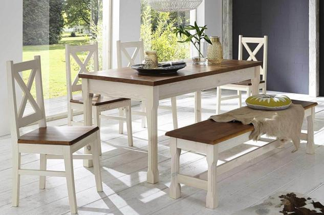MONACO jedálenská zostava | jedálenský stôl + lavica + 4x stoličky