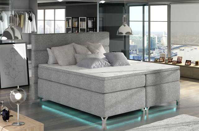 CAVALLI boxspring posteľ 140x200 cm s LED osvetlenie