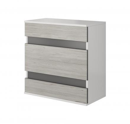 ICK, CHELIOS komoda 4S, dekor bílý/šedý
