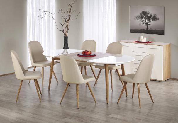 EDGAR II rozkladacie jedálenský stôl 120÷200/100/75 cm, dekor dub medový
