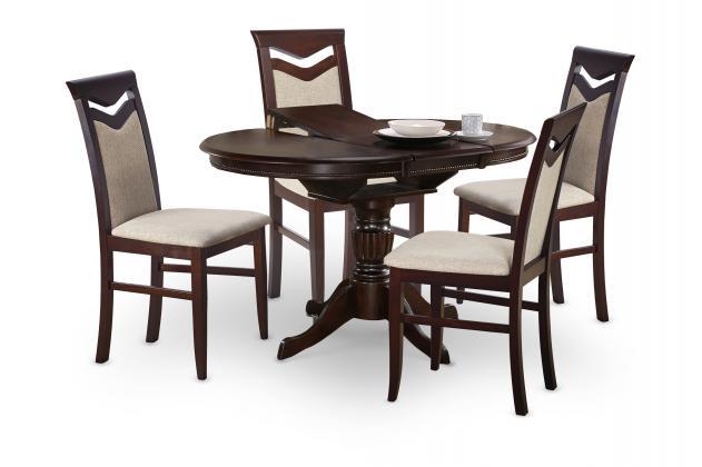 WILLIAM rozkladací jedálenský stôl, dekor orech, biela