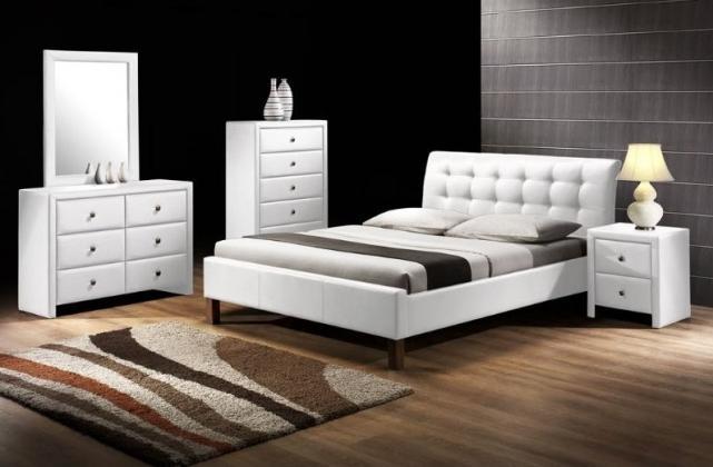 SAMARA čalúnená posteľ 160x200 cm, biela