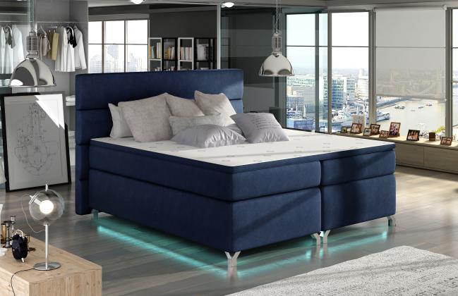CAVALLI boxspring posteľ 180x200 cm s LED osvetlenie