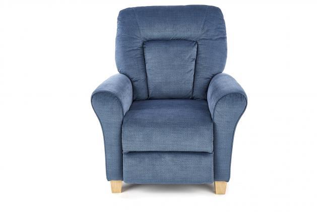 BARD polohovacie relaxačné kreslo, modré, 90x90-158 cm