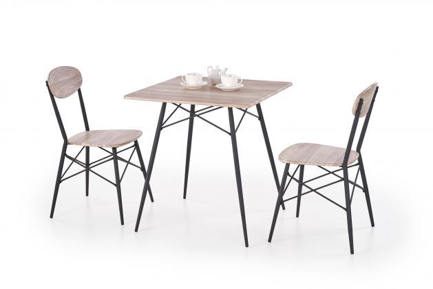 KABIR jedálenská zostava - stôl + 2x stoličky, dekor san remo/čierna