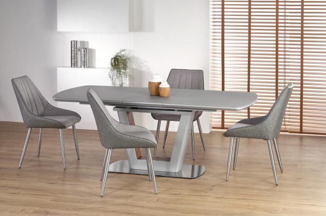 BILOTTI rozkladací jedálenský stôl 160-200 cm, dekor sivý mat/orech